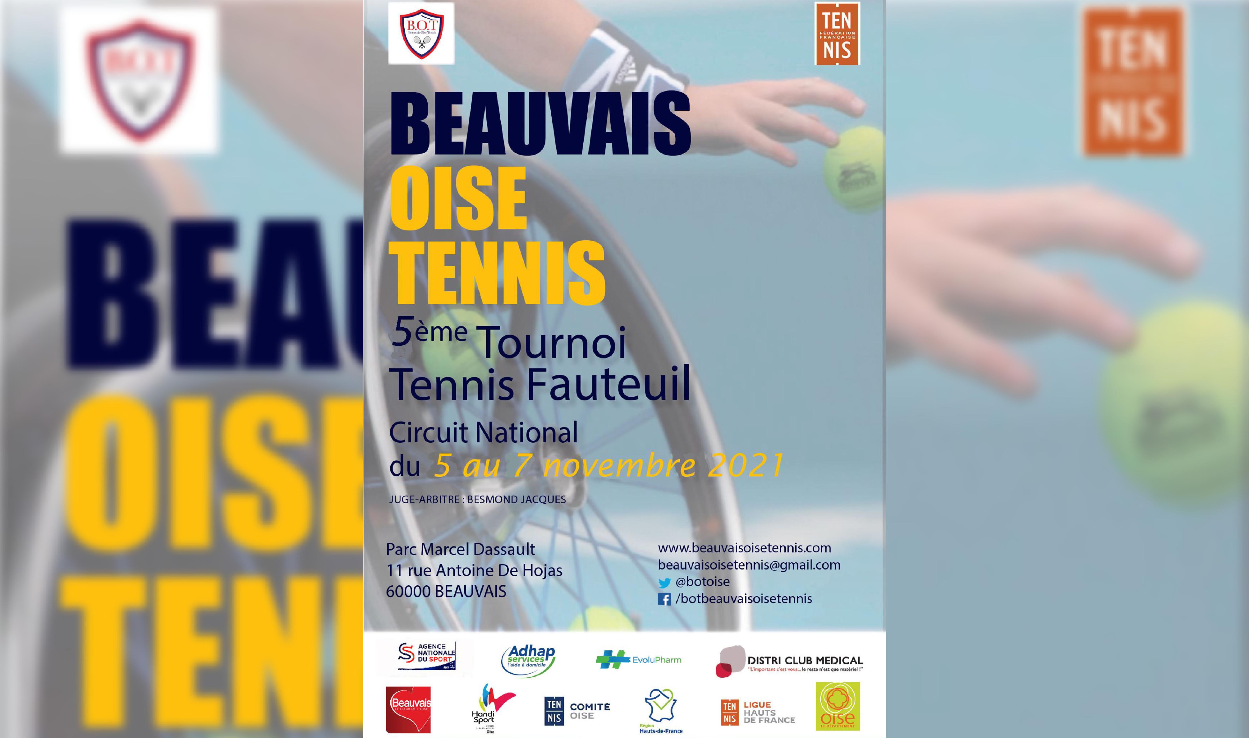 Beauvais Oise Tennis tournoi du tennis fauteuil
